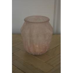 Rosafarbenes Windlicht / Vase