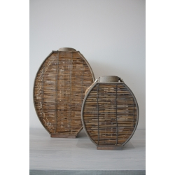 Filigrane Holz-Laterne