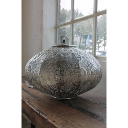 Lampe Silber gemustert