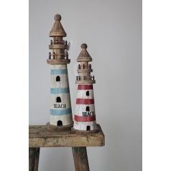 Leuchttürme aus Holz