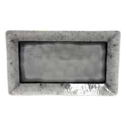 Madeira Servierplatte groß grau