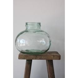 Runde Vase aus 100% recyceltem Glas