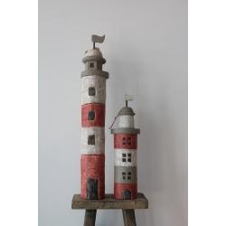 Leuchtturm rot weiß (2 Größen)