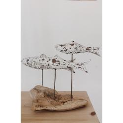 Skulptur Fisch (3er)