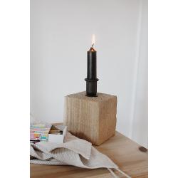Kerzenhalter Holzklotz
