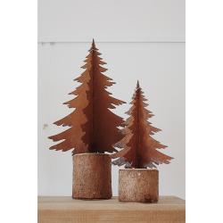 Rostige Tanne auf Holz