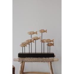 Fischschwarm aus Holz