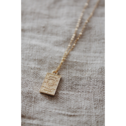 Fine jewelry sun tag necklace gold