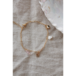 Beach charms anklet gold