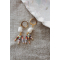 5 gold coins necklace white