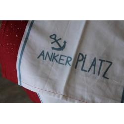 """Tischläufer """"Ankerplatz"""" rot"""