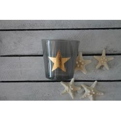 Teelicht mit goldenem Stern