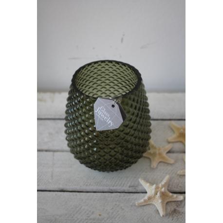 Grünes Windlicht / Vase