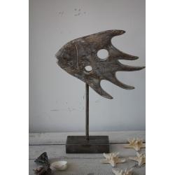 Abstrakter Holzfisch