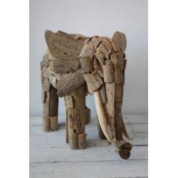 Treibholzfigur Elefant